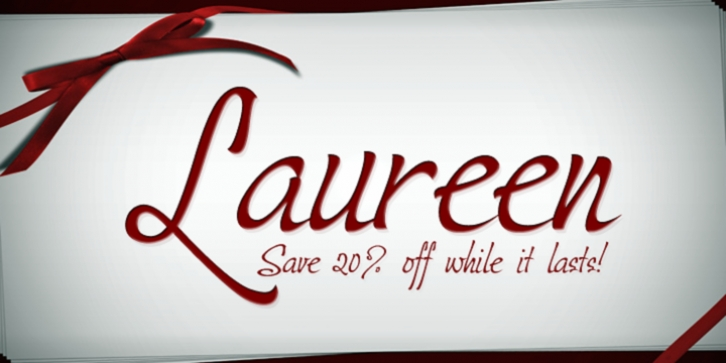 Laureen font preview