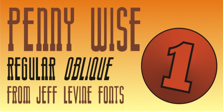 Penny Wise JNL font preview