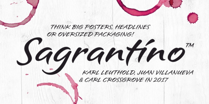 Sagrantino font preview