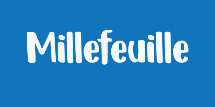 Millefeuille font preview