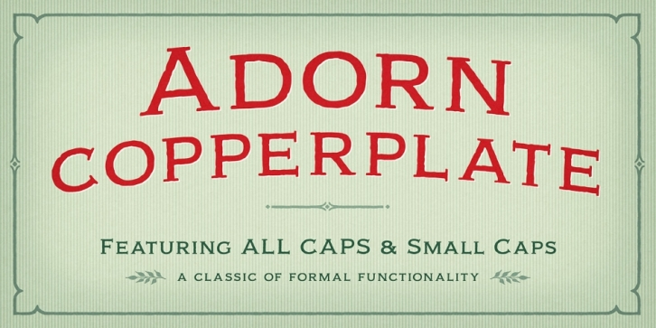 Adorn Copperplate font preview