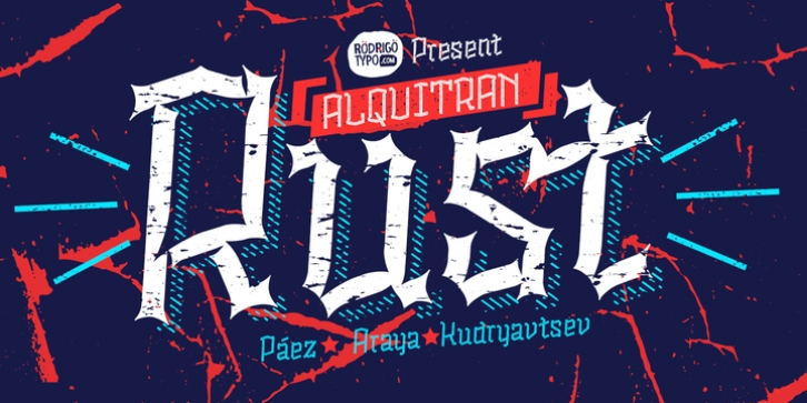 Alquitran Rust font preview