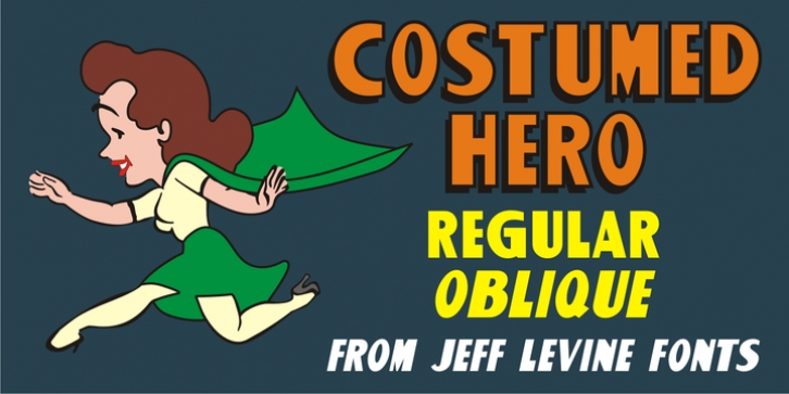 Costumed Hero JNL font preview