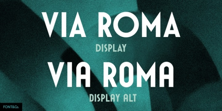 Via Roma Display font preview