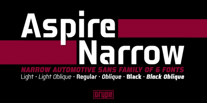 Aspire Narrow font preview