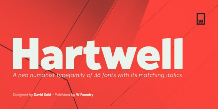 Hartwell font preview