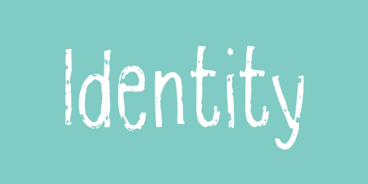 Identity font preview