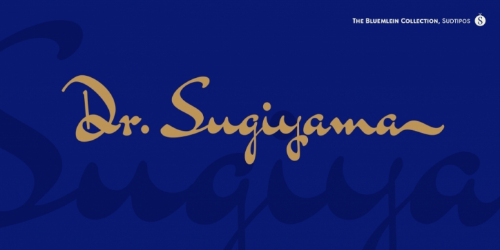 Dr Sugiyama Pro font preview