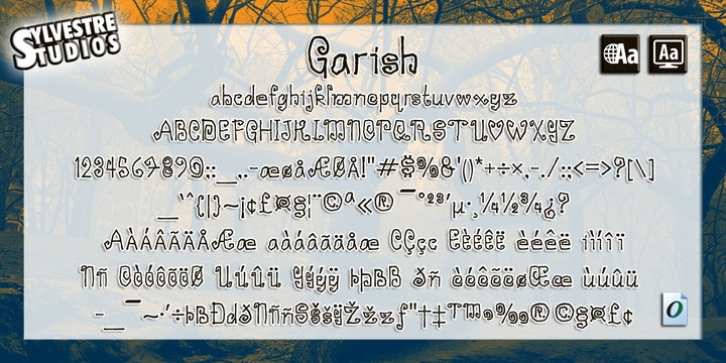 Garish font preview