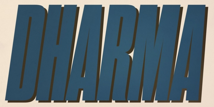 Dharma Gothic font preview