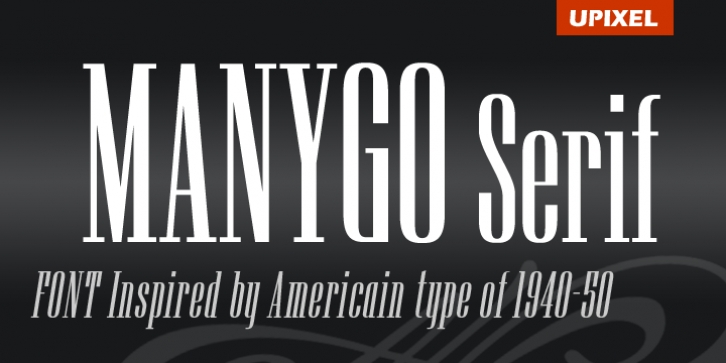 Manygo Serif font preview