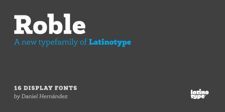 Roble font preview