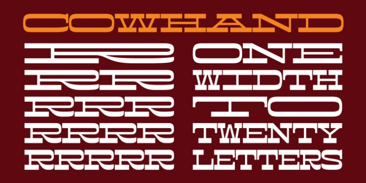 Cowhand font preview