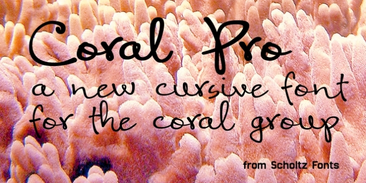 Coral Pro font preview