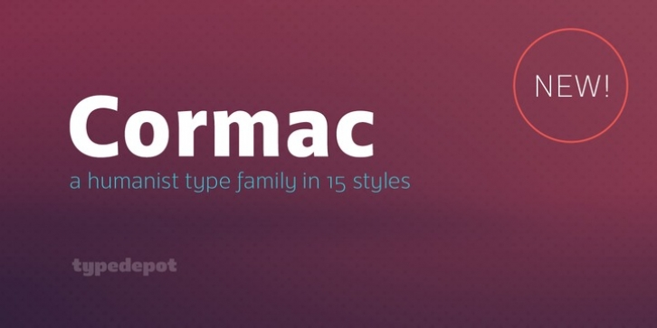 Cormac font preview