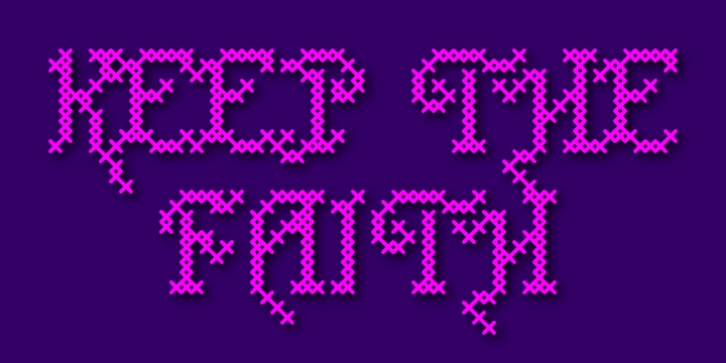 Cross Stitch Carefree font preview