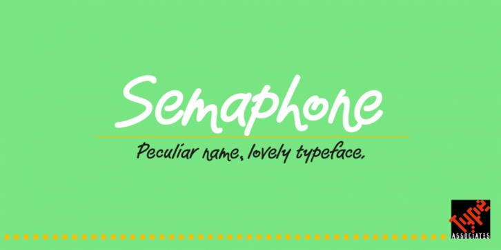 Semaphone font preview