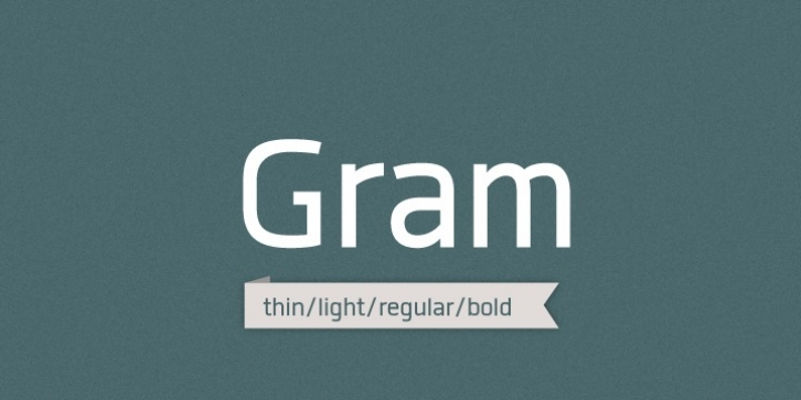 Gram font preview