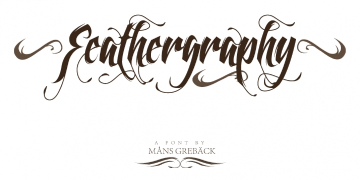 Feathergraphy font preview