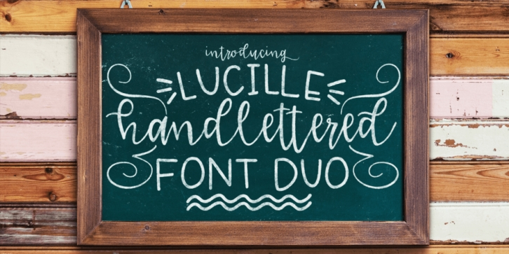 Lucille Handlettered Fonts font preview
