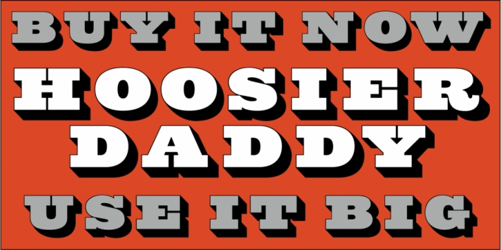Hoosier Daddy font preview