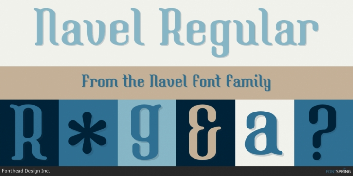 Navel font preview