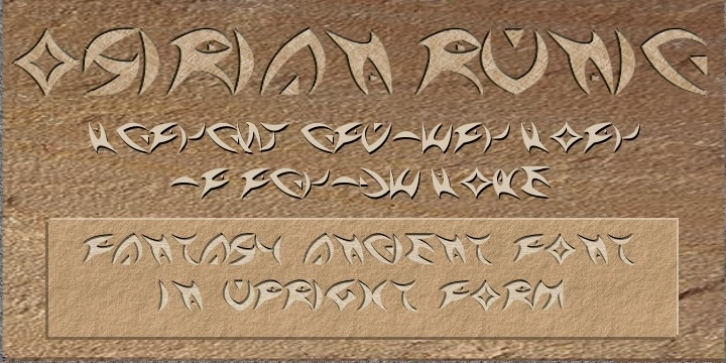 Osirian Runic Upright font preview