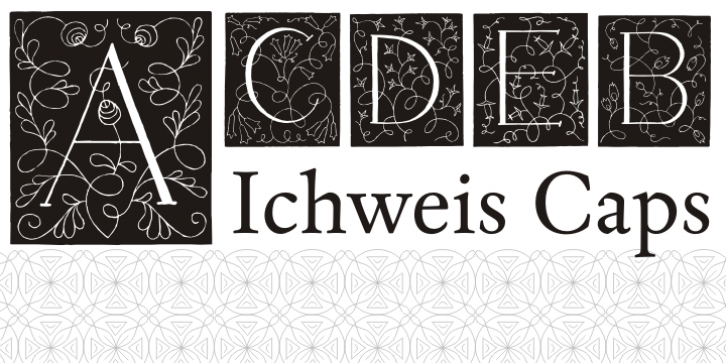 Ichweis Caps font preview