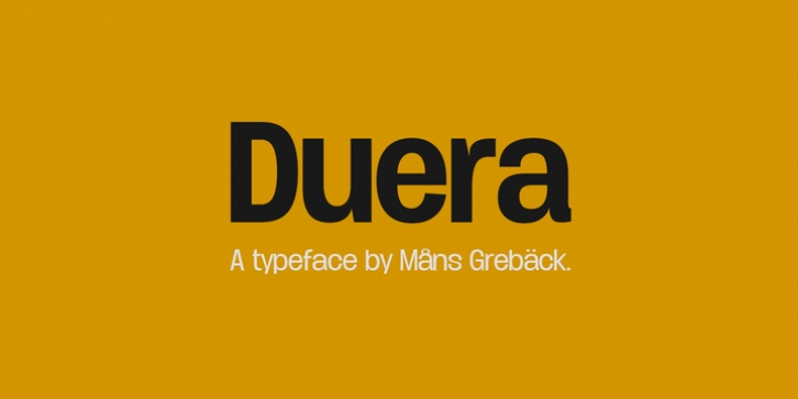 Duera font preview
