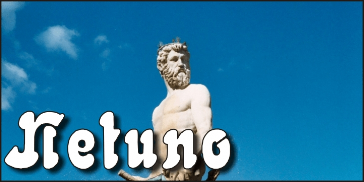 Netuno font preview