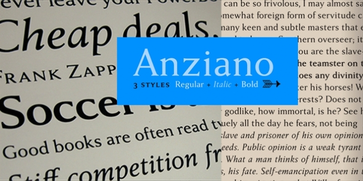 Anziano Pro font preview
