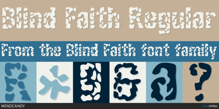 Blind Faith font preview