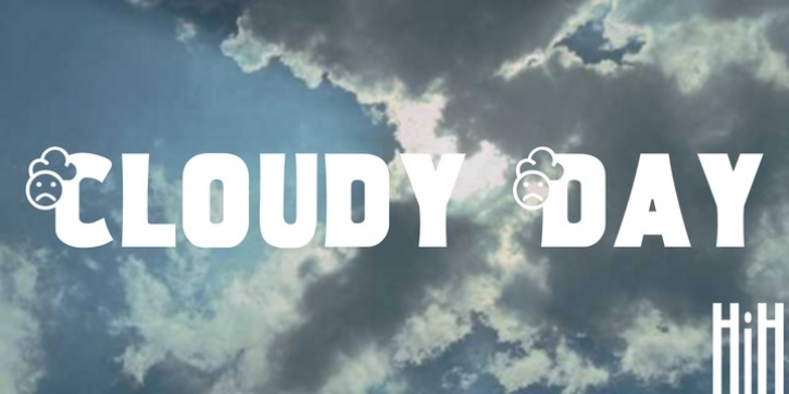 Cloudy Day font preview