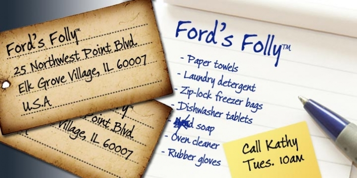 Ford's Folly font preview