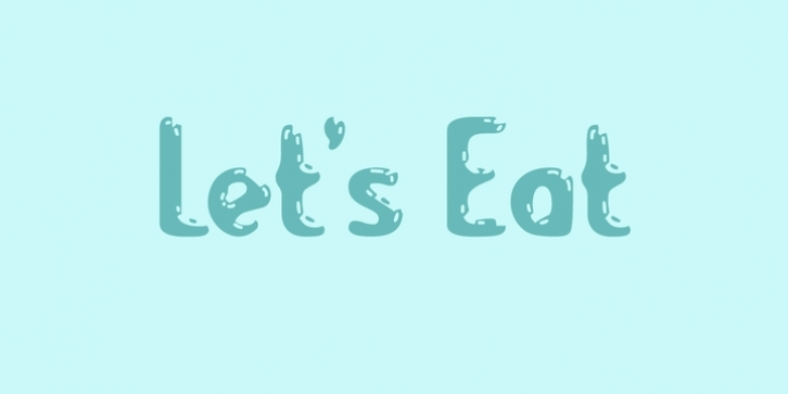 Lets Eat font preview
