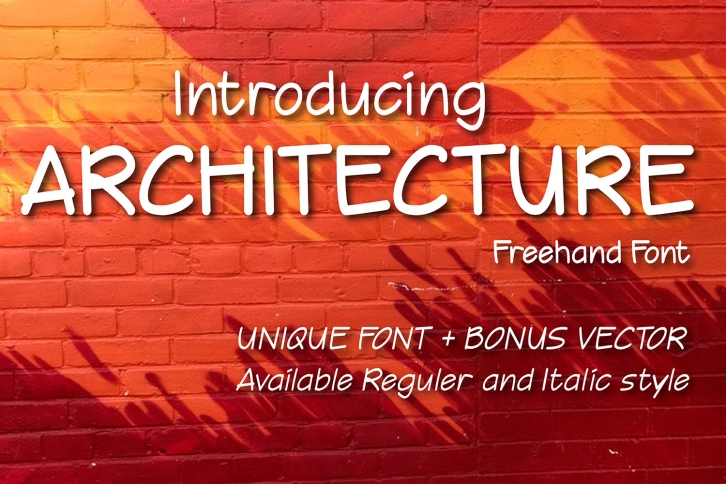 Architecture font preview