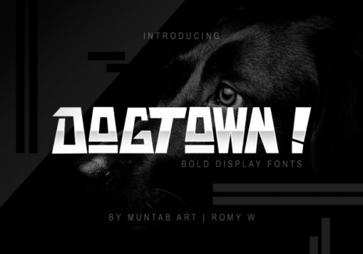 Dogtown font preview