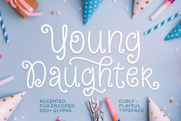 Young Daughter font preview