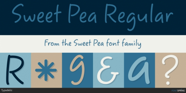 Sweet Pea font preview