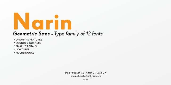 Narin font preview