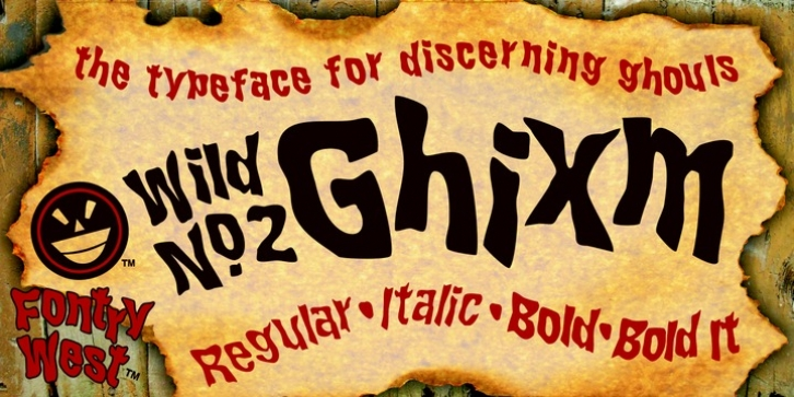 WILD2 Ghixm font preview