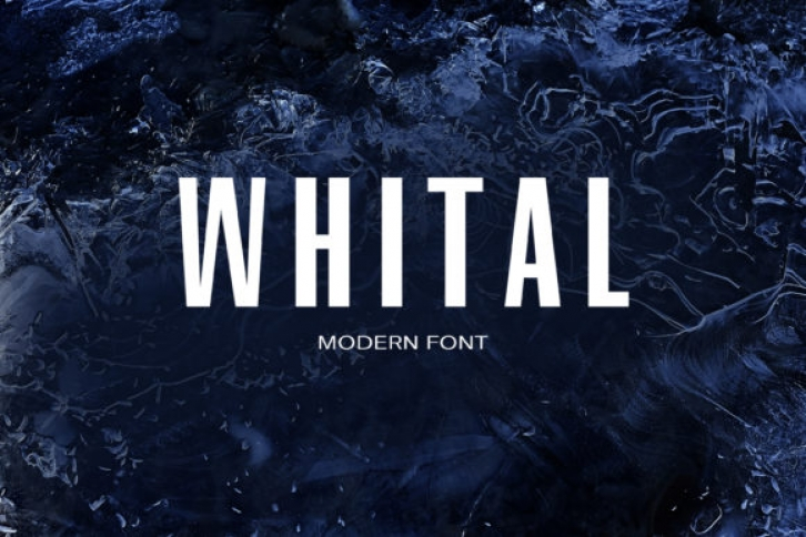 Whital font preview