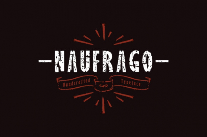 Naufrago font preview