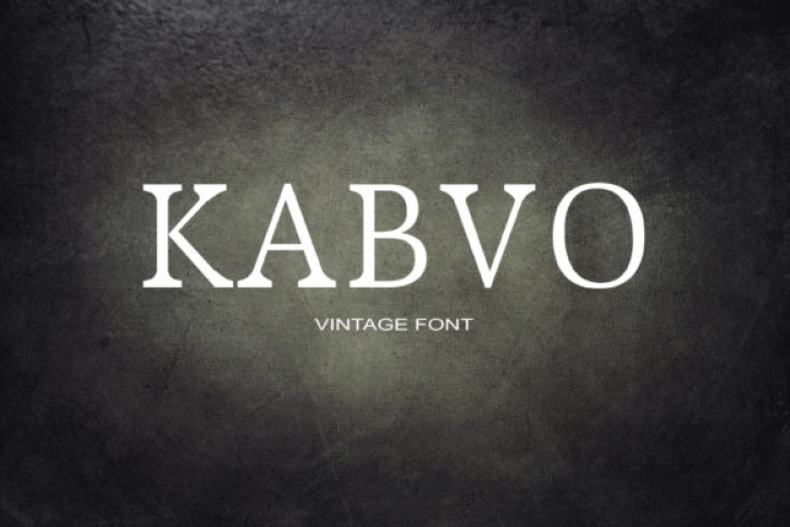 Kabvo font preview