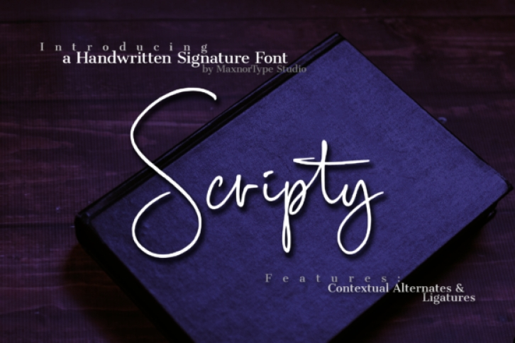 Scripty font preview