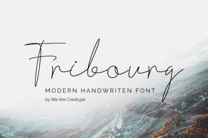 Fribourg font preview
