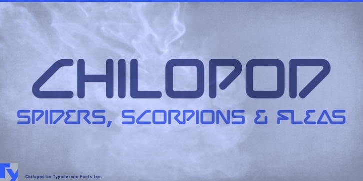 Chilopod font preview