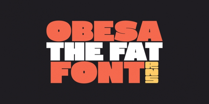 RNS Obesa font preview