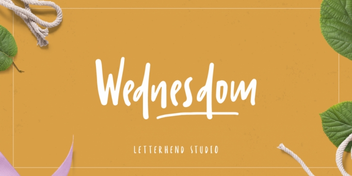 Wednesdom font preview