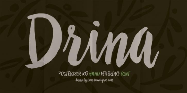 Drina font preview